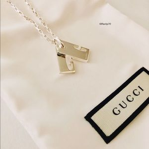 New Authentic Gucci Logo Stretch G Tag Necklace